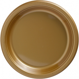 Gold Sparkle Plastic Dinner Plates 20ct