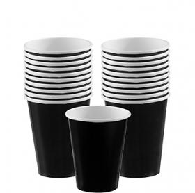 Jet Black Paper Cups 20ct