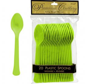 Kiwi Premium Quality Plastic Spoons 20ct