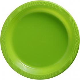 Kiwi Plastic Dinner Plates 20ct