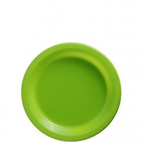 Kiwi Plastic Dessert  Plates 20ct