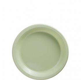 Leaf Green Plastic Dessert  Plates 20ct