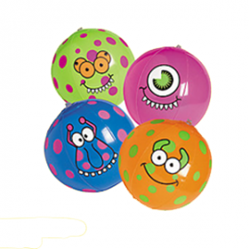 Inflatable Monster Beach Balls (1dz)