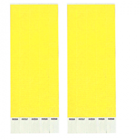 Neon Yellow Paper Wristbands 500ct