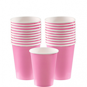 New Pink Paper Cups 20ct