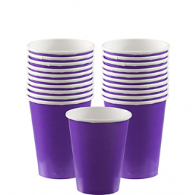 New Purple Paper Cups 20ct