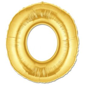 """34"""" Inch Letter O Gold Giant Foil Balloon Uninflated"""