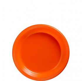 Orange Peel Plastic Dessert  Plates 20ct