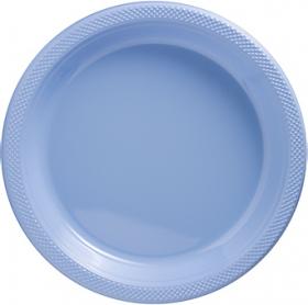 Pastel Blue Plastic Dinner Plates 20ct
