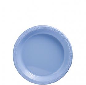 Pastel Blue Plastic Dessert  Plates 20ct
