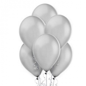 Silver Pearl Balloons 10ct