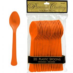 Orange Peel Premium Quality Plastic Spoons 20ct