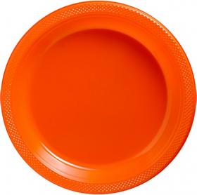Orange Peel Plastic Dinner Plates 20ct