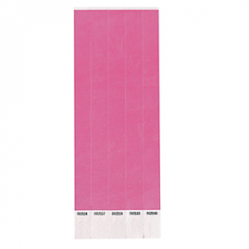 Neon Pink Paper Wristbands 250ct
