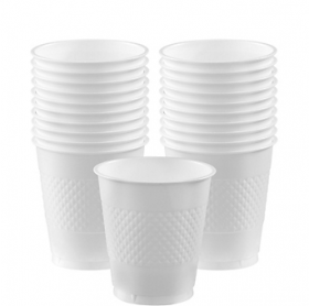 12oz Frosty White Plastic Cups 20ct