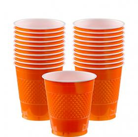 12oz  Orange Peel  Plastic Cups 20ct