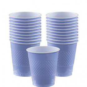 12oz  Pastel Blue Plastic Cups 20ct