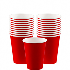 Apple Red Paper Cups 20ct