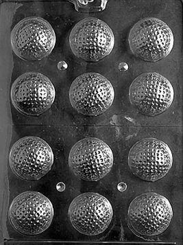 3D Golf Balls - Chocolate Mold