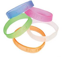 Rubber Jelly Sayings Bracelets 2dz