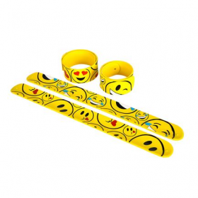 Emoticon Slap Bracelets 1dz