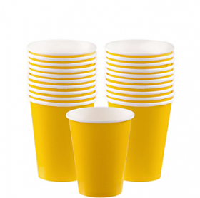 Yellow Sunshine Paper Cups 20ct