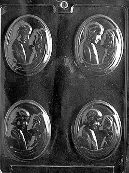 Bride and Groom Chocolate Medallion Mold