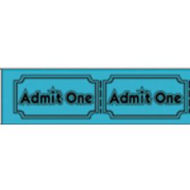 Tyvek Identification Wristbands – Admit One – Blue (100 bands)
