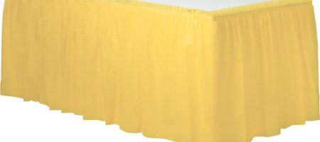 8fa5eee97 Light Yellow Plastic Table Skirt | Party Supplies | Decorations | Costumes  | New York | Long Island